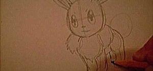 Draw Evee from Pokemon
