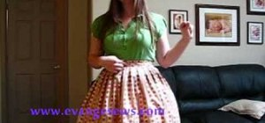 Sew a box pleated skirt for a flared Lolita style skirt