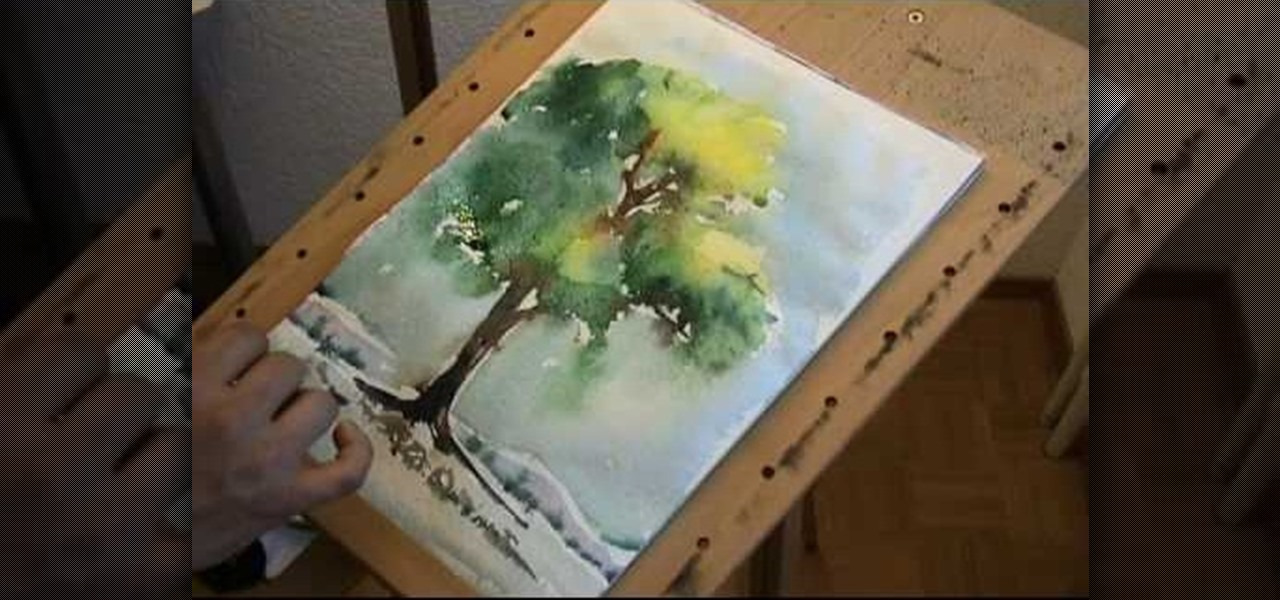 how to paint a tree in watercolor painting tips