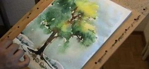 Paint a tree in watercolor