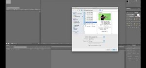 Import footage and create a new composition in Adobe After Effects CS5