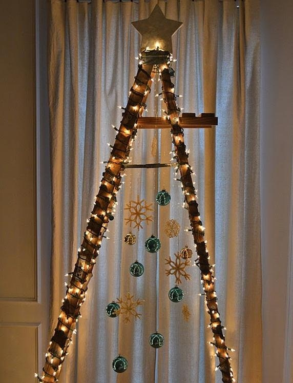 How To Make A Step Ladder Christmas Tree Window Bench