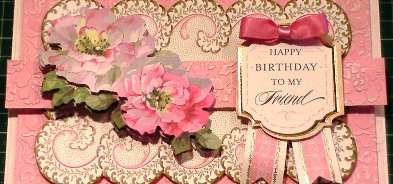 Make a Traditional Pretty Pink Floral Card