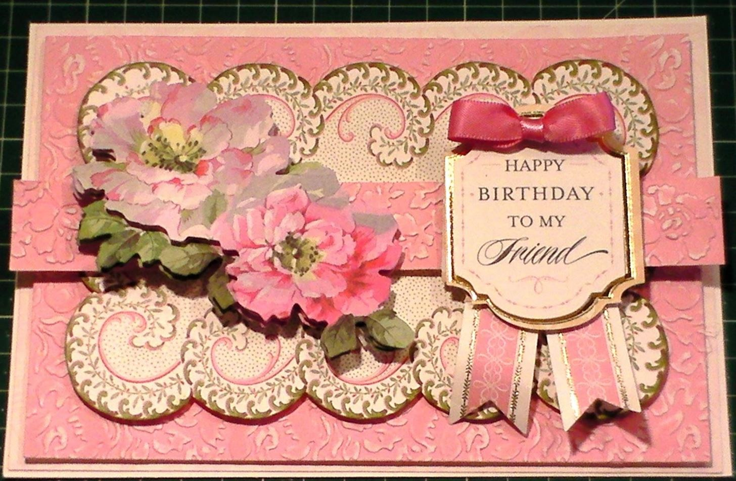 How to Make a Traditional Pretty Pink Floral Card