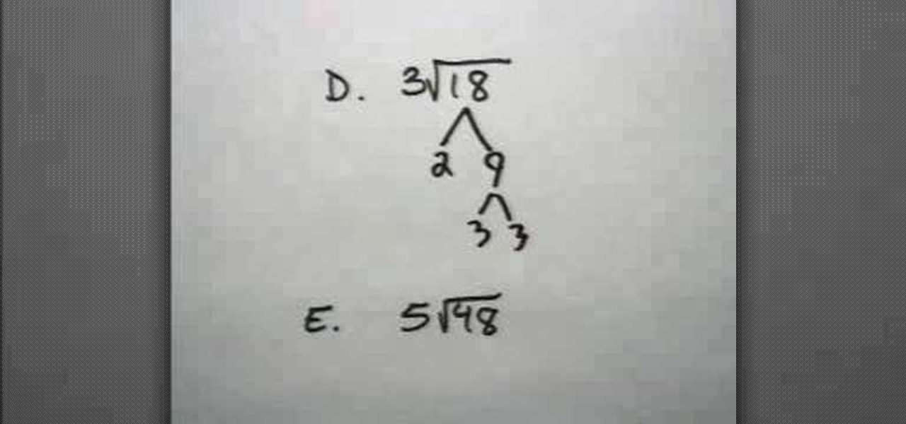 How to Simplify a Square Root