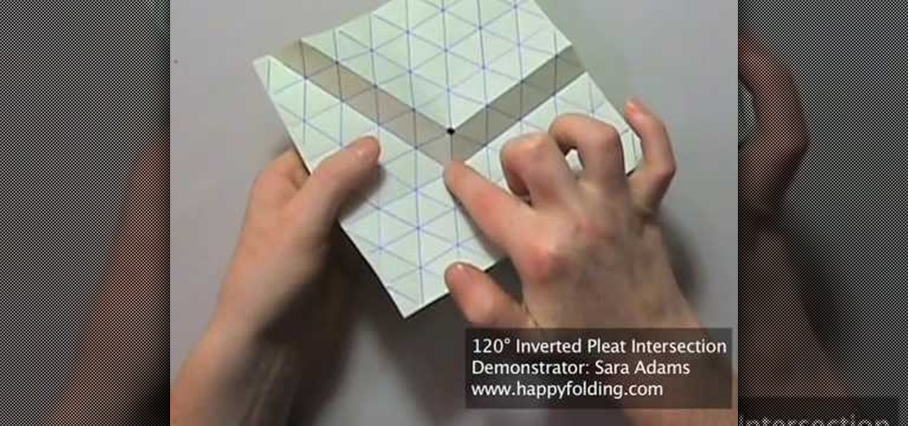 How To Origami A 120 Degree Tessellation Inverted Pleat