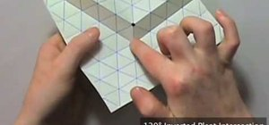 Origami a 120 degree tessellation inverted pleat