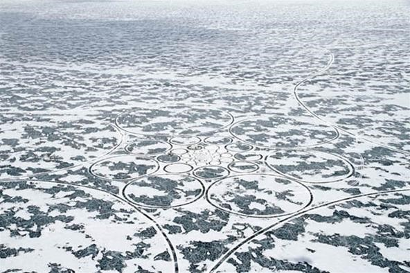 World's Largest Artwork Stretches 9 Square Miles in the Heart of Icy Siberia