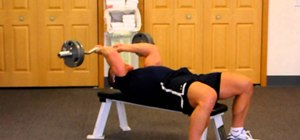 Complete the Skull Krusher to tone triceps and arms