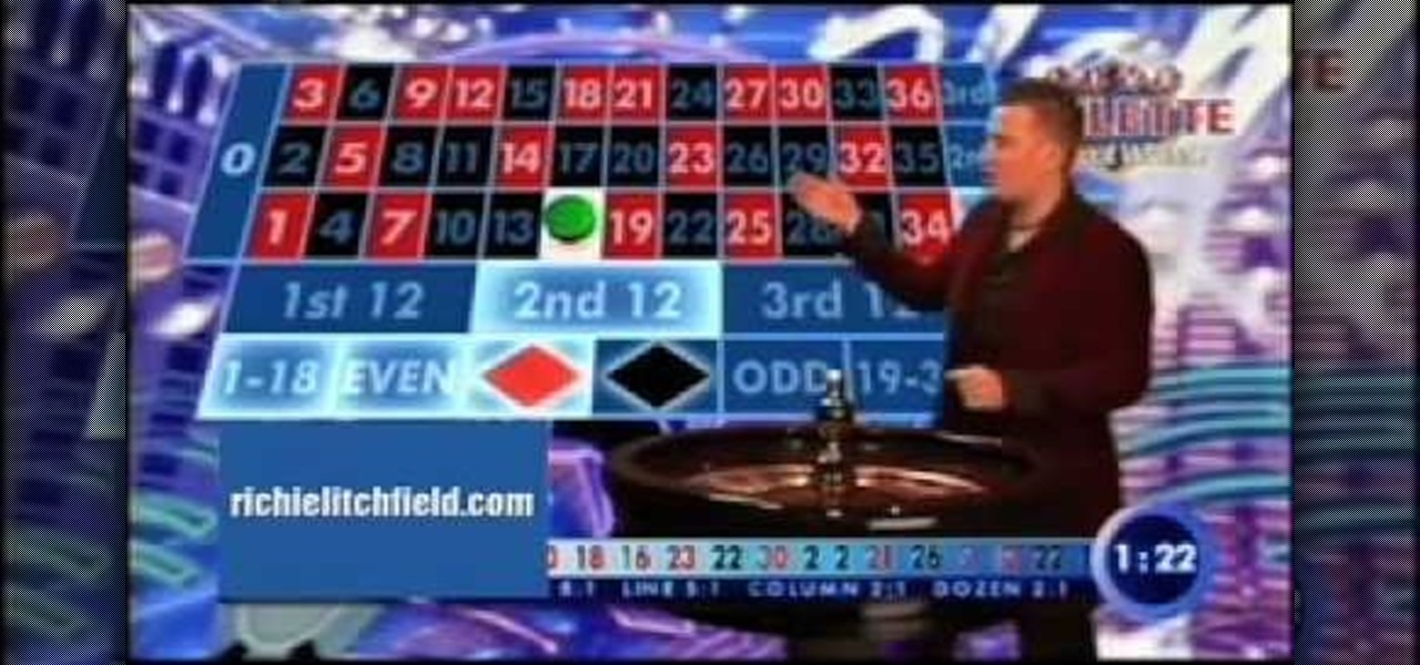 How to play on a european roulette table roulette for Table tv a roulettes