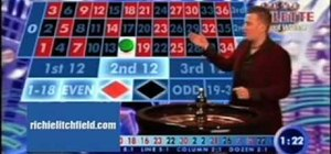 Play on a European roulette table