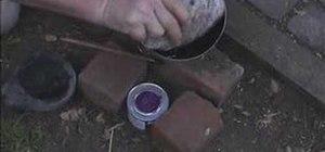 Make pine-pitch adhesive