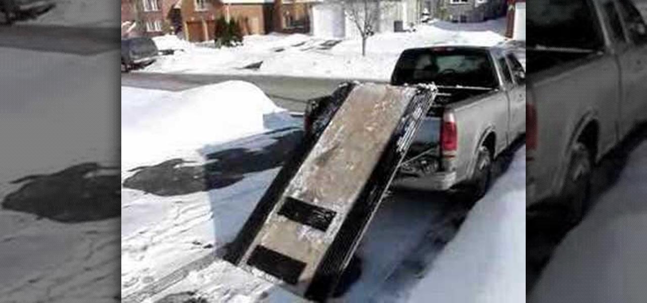 Homemade Snowmobile Lift