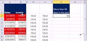 Apply special formatting to past-due invoices in Excel