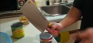 How To Break Open A Can Of Food Without A Can Opener