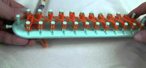 Wrap a small knitting loom for crochet