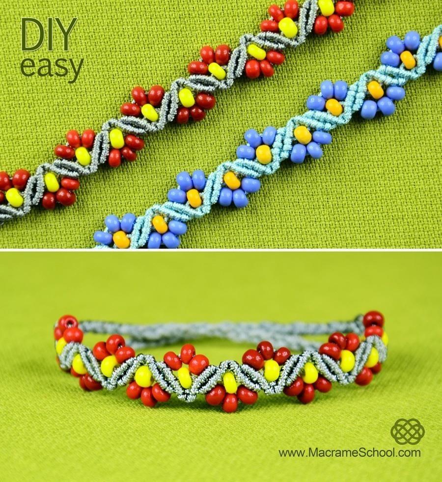 DIY ZigZag Flower Bracelet
