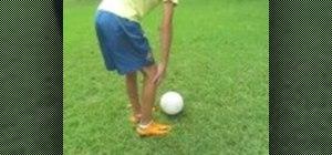 Curve a soccer ball