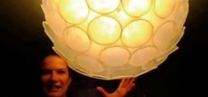 Make a lampshade out of plastic cups with Threadbanger