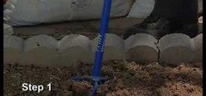Prepare soil for planting irises