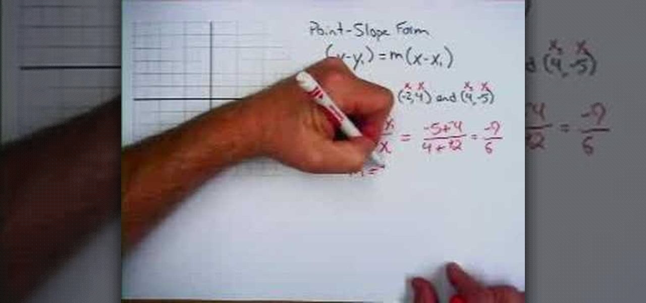 How To Find The Point Slope Form Of A Line Equation Math