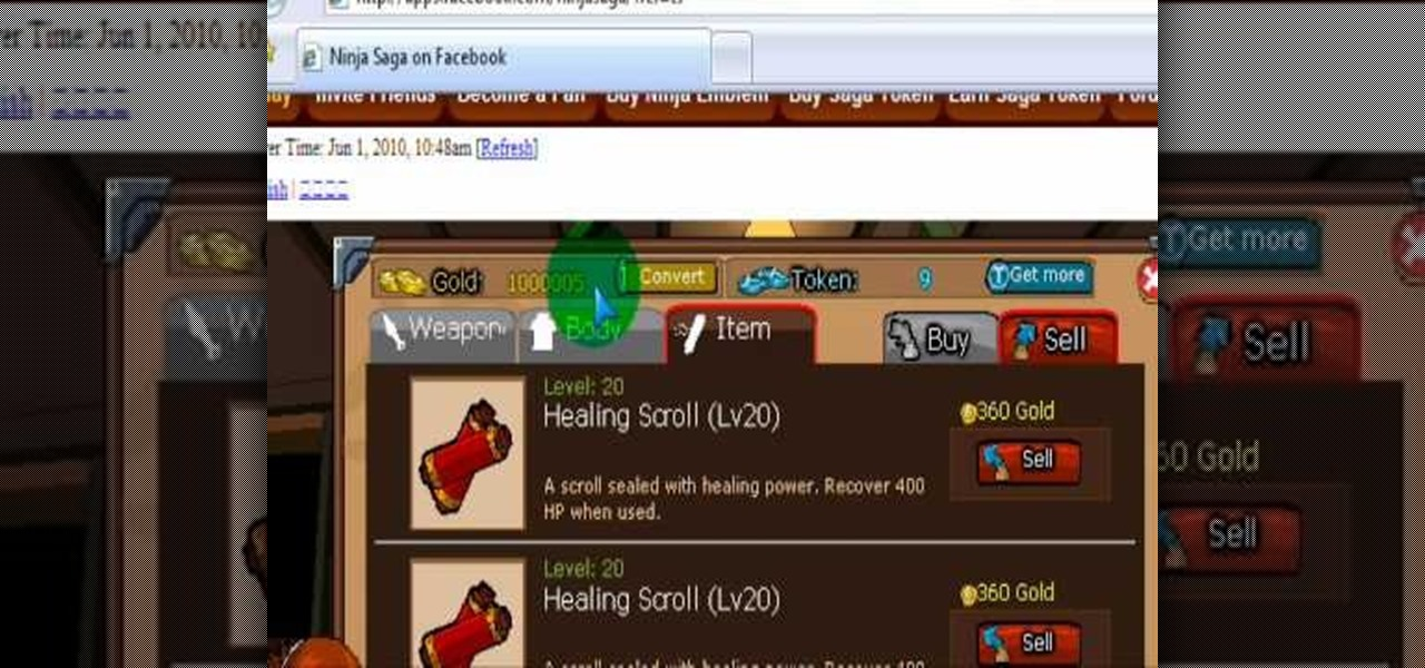 ninja saga free download cheats