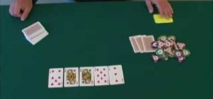 Place the board cards down in a game of poker