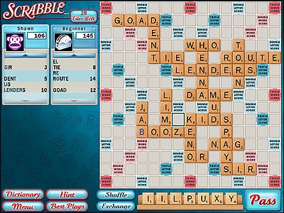 free online scrabble game against computer