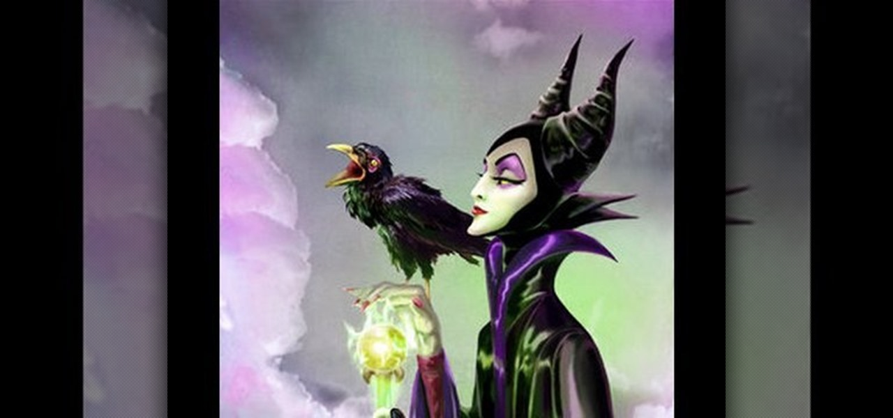 Maleficent Halloween Makeup