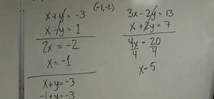 Solve a system of equations w/ the elimination method