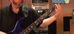 Fret and play a G sharp note on a bass guitar
