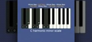 Play a harmonic scale on the piano