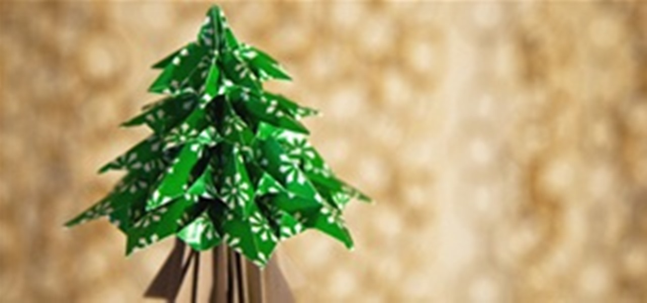 Diy Origami Christmas Tree Math Craft Wonderhowto