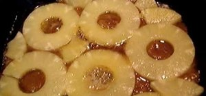 Make pineapple upside down cake