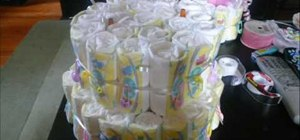 Create a fun baby shower diaper cake