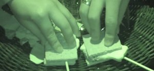 Make delicious s'mores while camping
