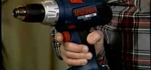 Use a cordless drill driver