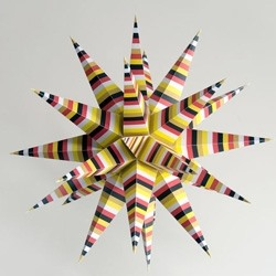 Make your own Christmas star (PDF link)