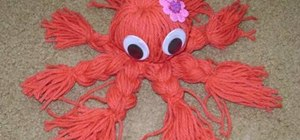 Make an octopus toy out of yarn