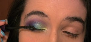 Give yourself beautiful peacock inspired eyeshadow