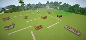 Self building village in Minecraft