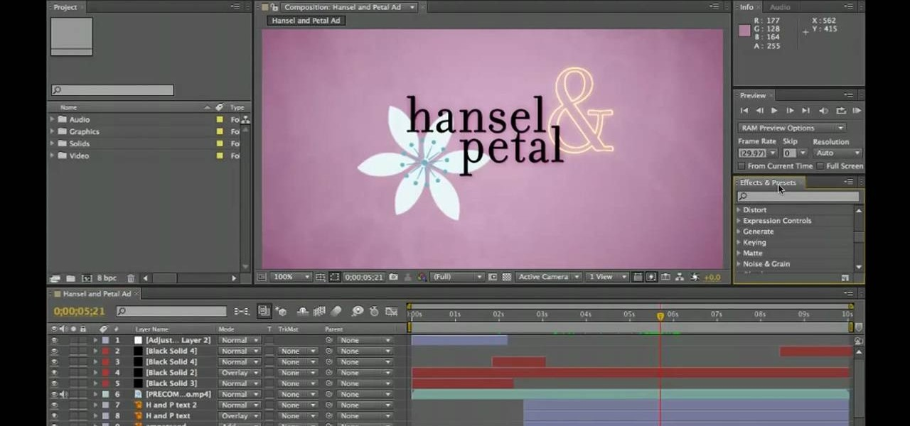 after effects video editor