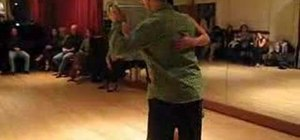 Perform sacadas with a graceful exit in the Tango