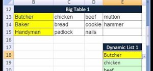 Extract records from a table to a column in MS Excel