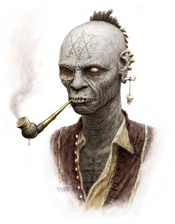 Zombie Artwork from Pirates of the Caribbean: On Stranger Tides