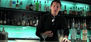 Make a vesper cocktail