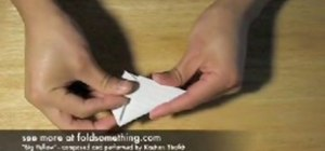 Fold an origami paper football