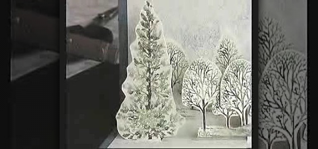 How to make a easy christmas decorations - How To Craft A Snowy Wintery Scene Pop Up Card For