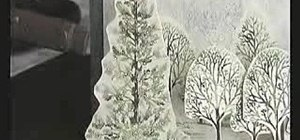 Craft a snowy wintery scene pop-up card for Christmas