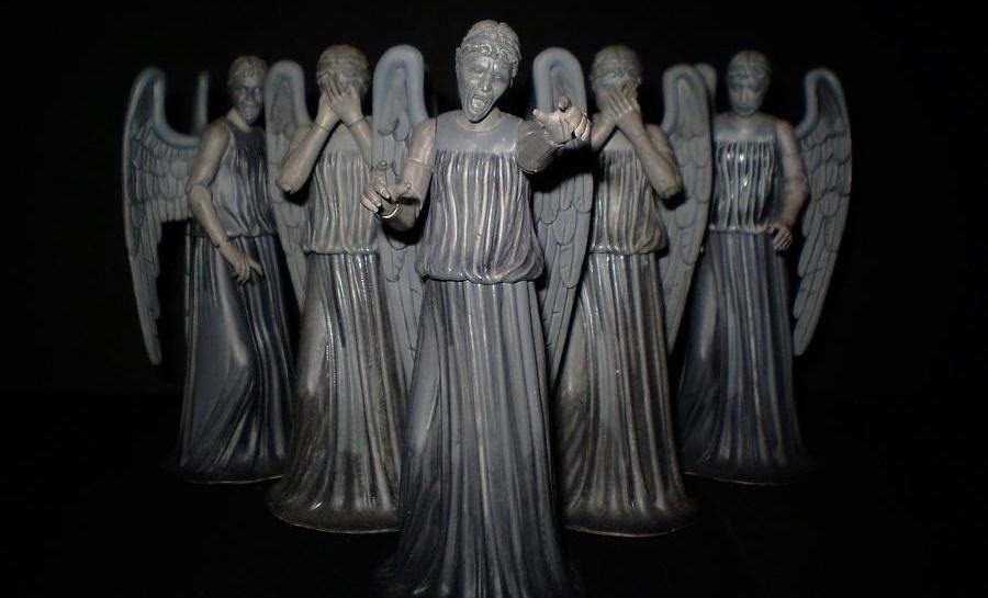 Geekify Your Christmas Tree with This Dr. Who 'Weeping Angel' Tree Topper